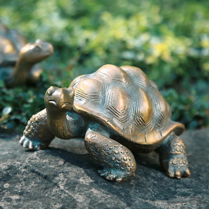 Skulptur Schildkröte H 9 x B 8 x T 13 cm