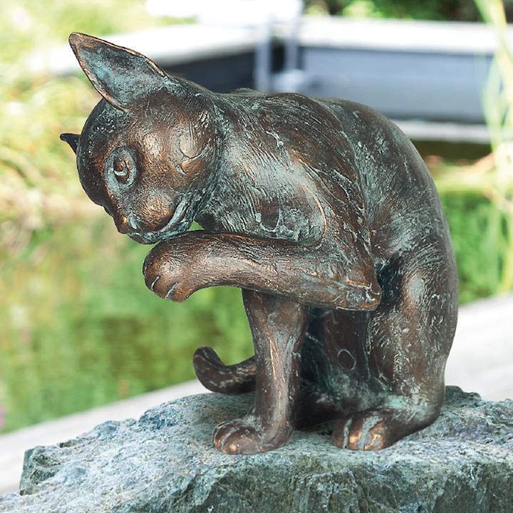 Bronze-Skulptur Katze