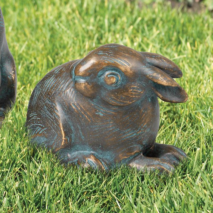 Skulptur Kaninchen, kauernd