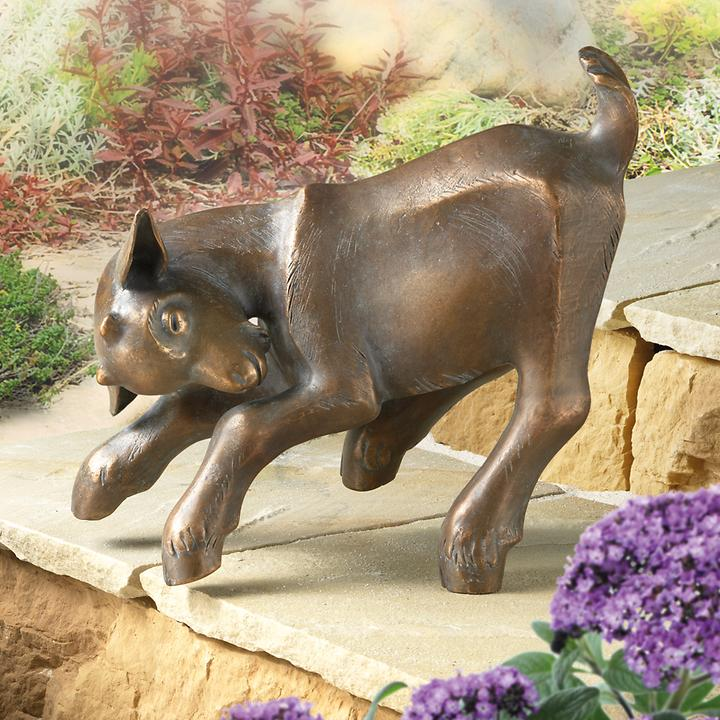 Skulptur Springendes  Zicklein
