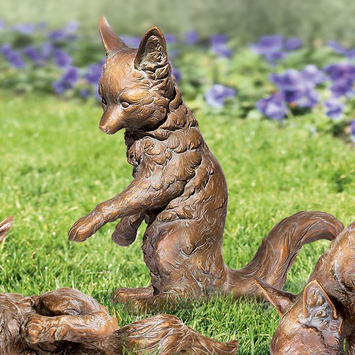 Skulptur Fuchs, sitzend