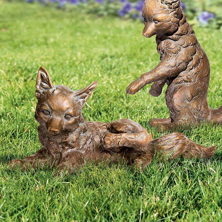 Skulptur Fuchs, kratzend