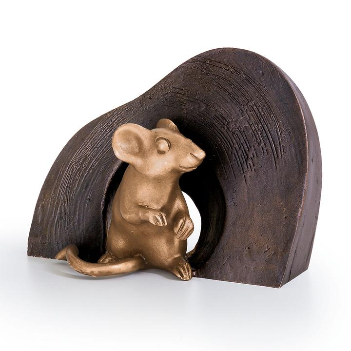 Skulptur Maus, sitzend