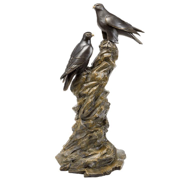 Skulptur Gerfalkenpaar