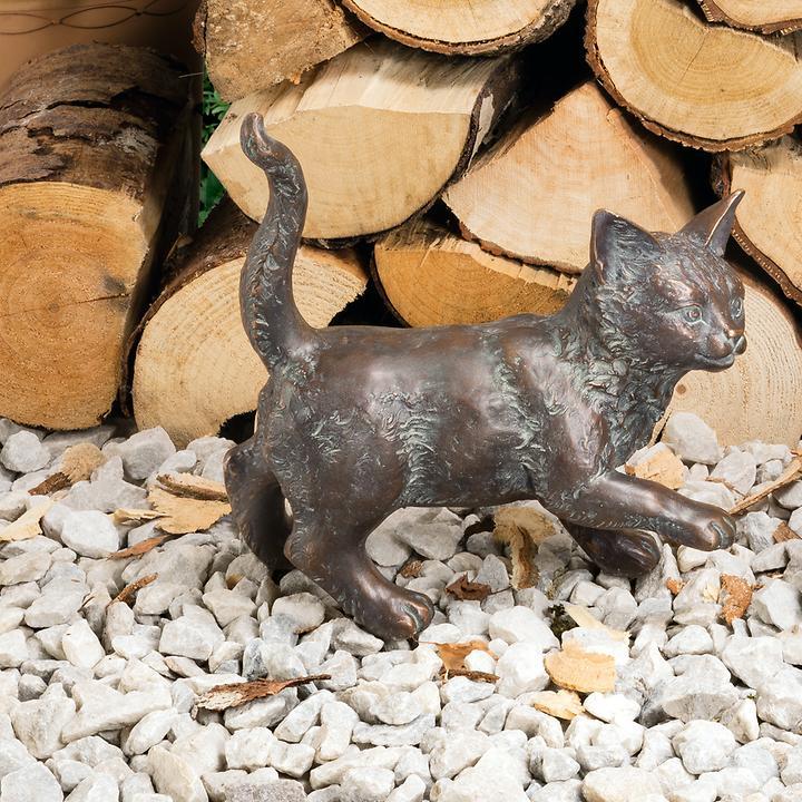 Skulptur Kätzchen, stehend