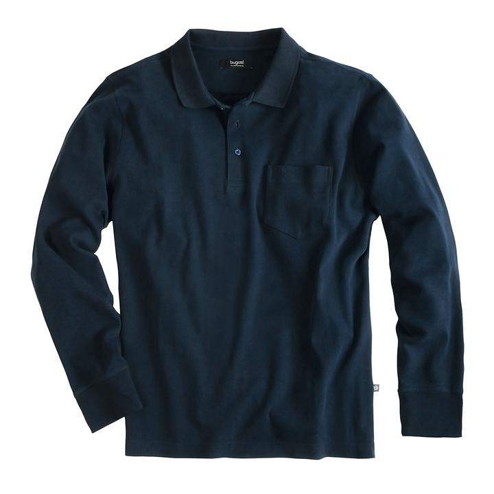 Langarm-Poloshirt bugatti, dunkelblau