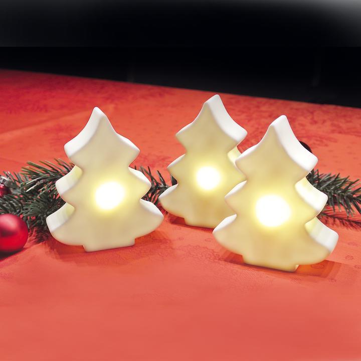 LED-Baum 3er-Set batteriebetrieben