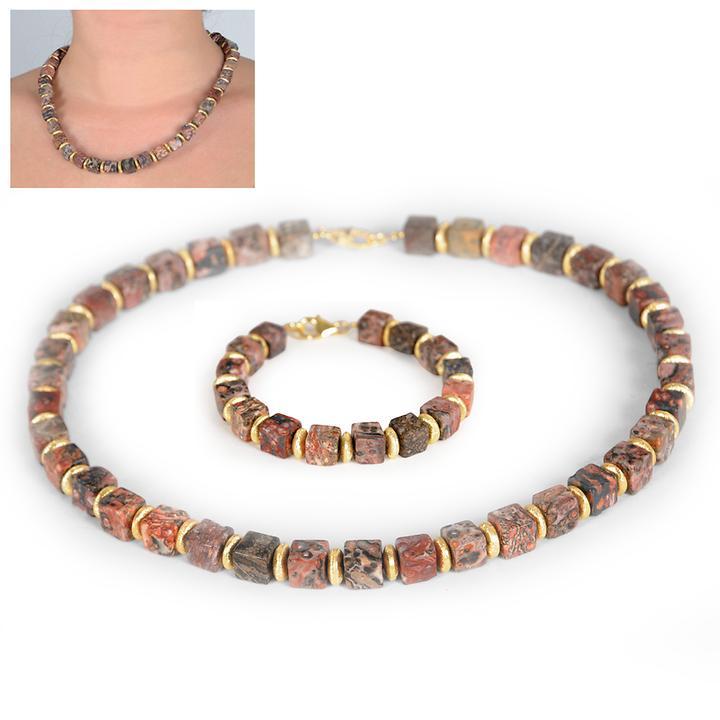 Halskette und Armband Jaspis