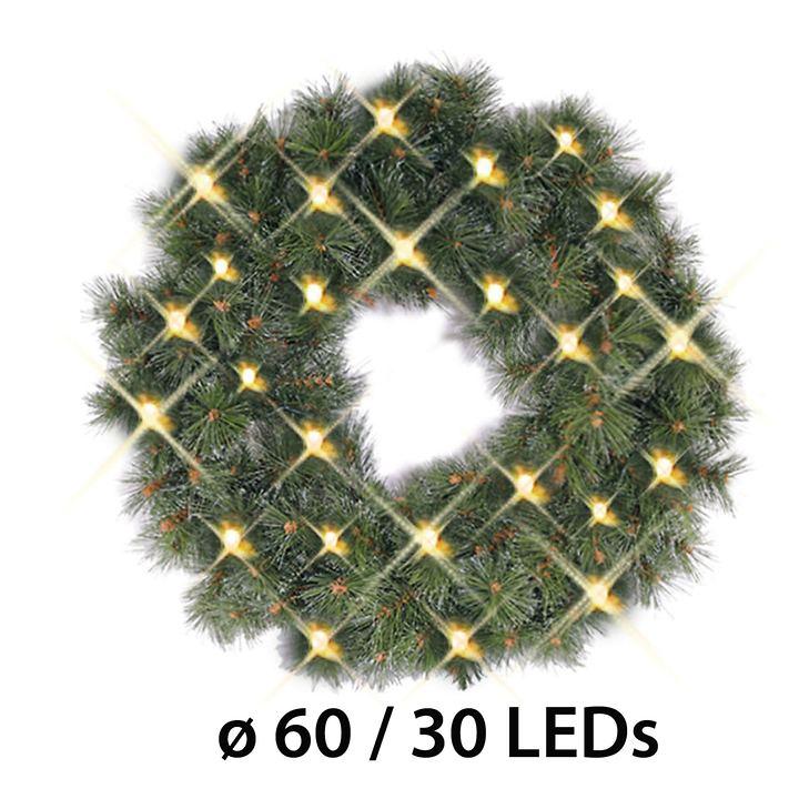 Batteriebetriebener LED-Tür- kranz D 60 cm