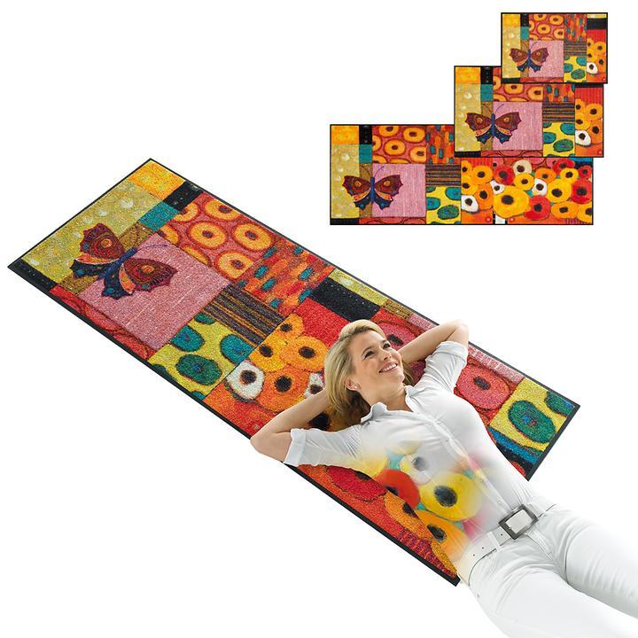 Waschbarer Teppichläufer und Fußmatte Colourful Moment