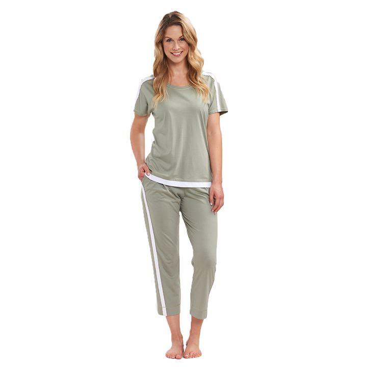 Lagen-Look-Shirt Oliva Gr.44