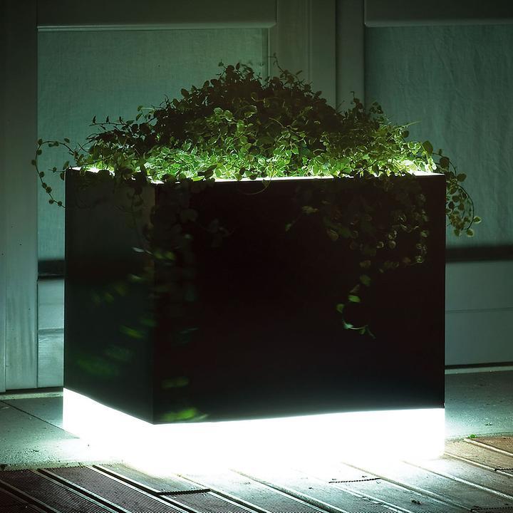 Beleuchteter Blumentopf Square