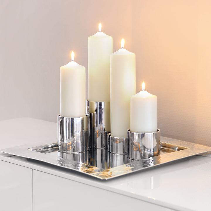 Edelstahl-Kerzenhalter Sobrio und Lazio