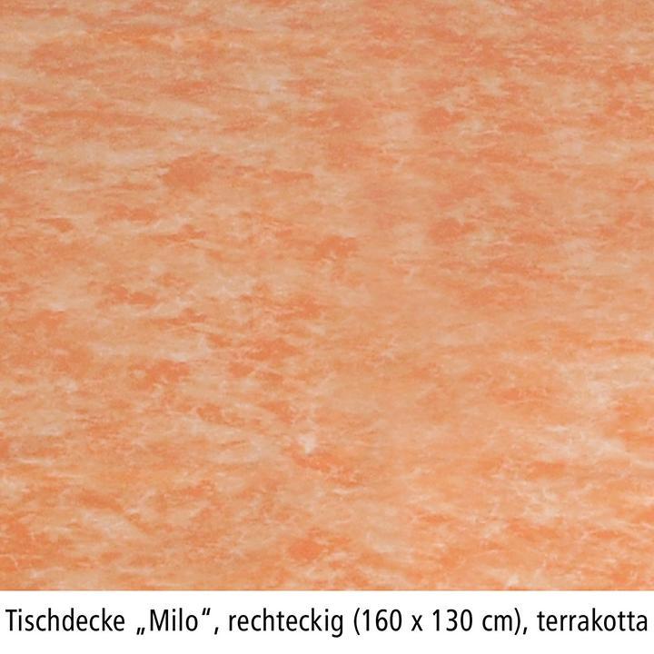 Tischdecke Milo, rechteckig, 160 x 130 cm, terra