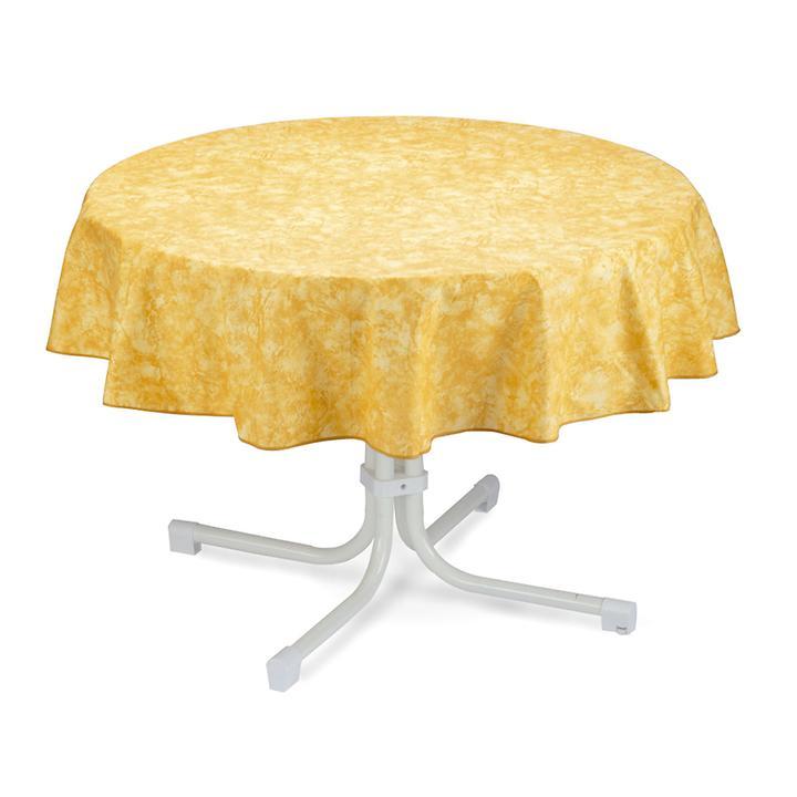 Tischdecke Milo, rund, D:160 cm, gelb
