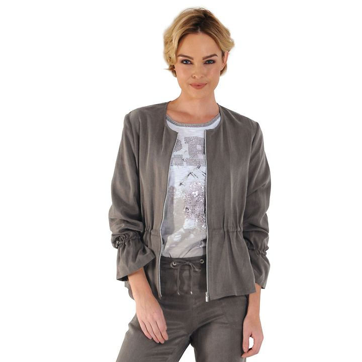 Leichtjacke Denise taupe Gr. 44