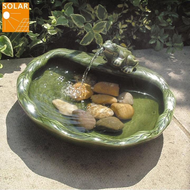 Solar-Vogeltränke Frosch