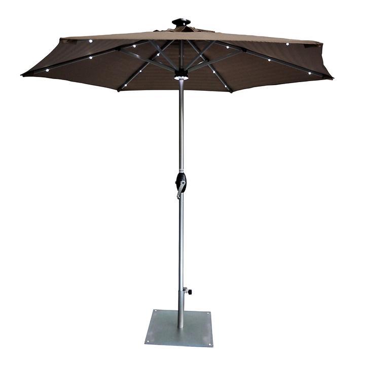 solar sonnenschirm locorno d 250 cm promondo. Black Bedroom Furniture Sets. Home Design Ideas