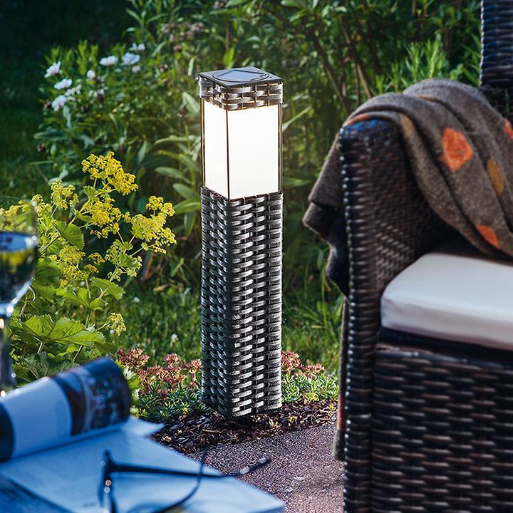 Solarleuchte rattan promondo - Lampara de jardin solar ...