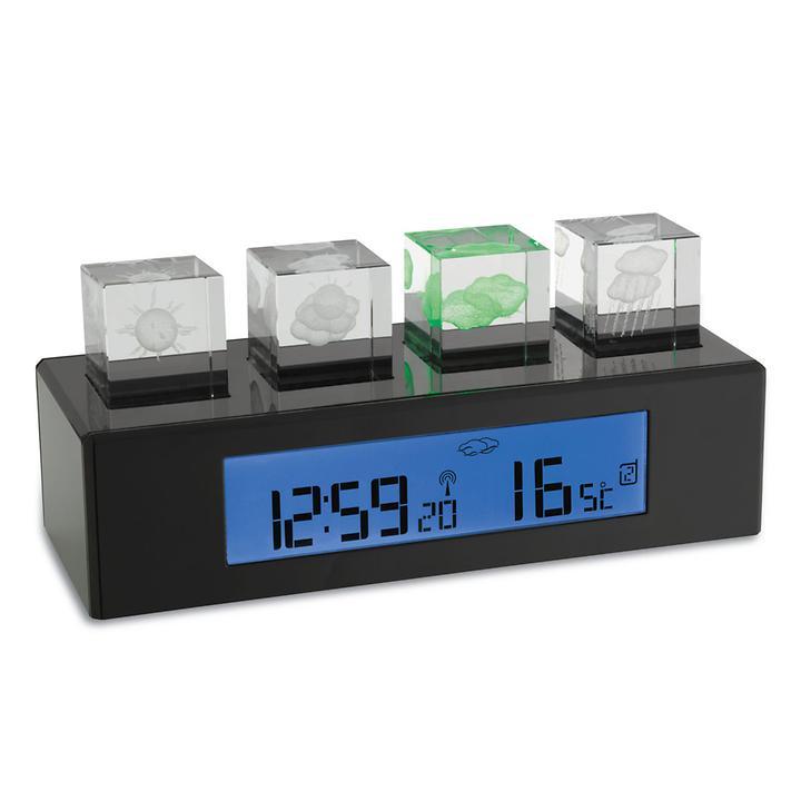 Funk-Wetterstation Crystal-Cube | Baumarkt > Heizung und Klima > Klimageräte | Schwarz | TFA