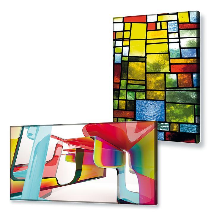 Beleuchtete Bilder Artistica und Plastic