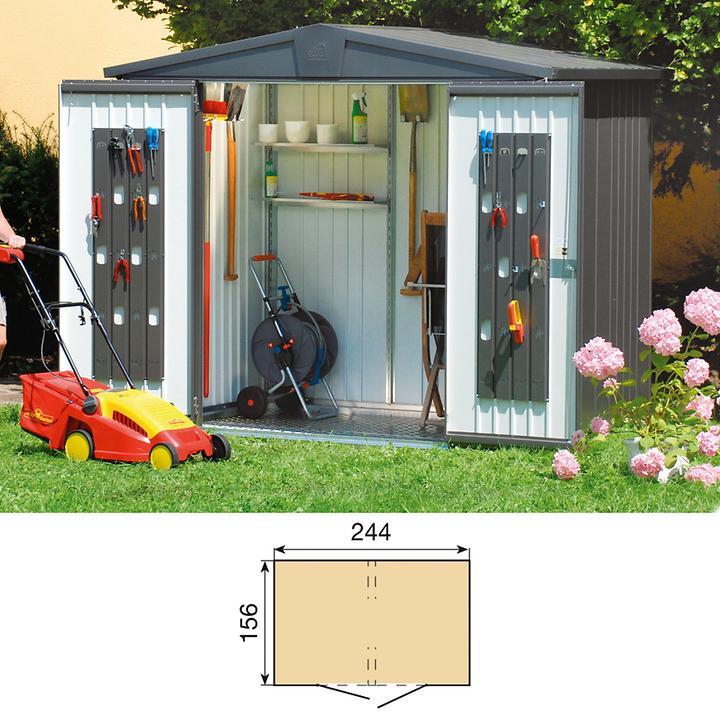 Gartenhaus Europa dunkelgrau metallic Gr.3 H203xB244xT156cm