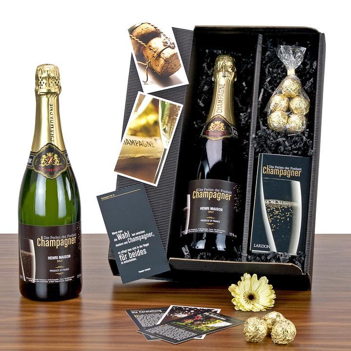 Geschenk-Set Champagner Box