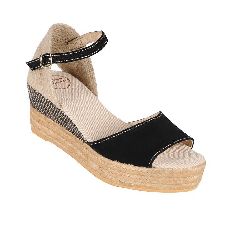 Sandalette Donna schwarz Gr. 37
