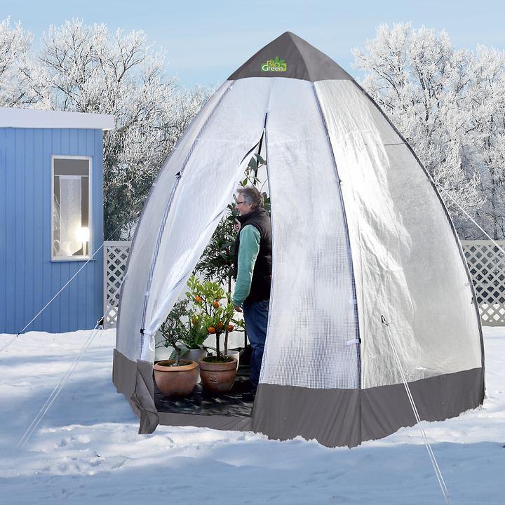 Pflanzen-Winterschutz / Gewächshaus Tropical Island, doppelt isoliert