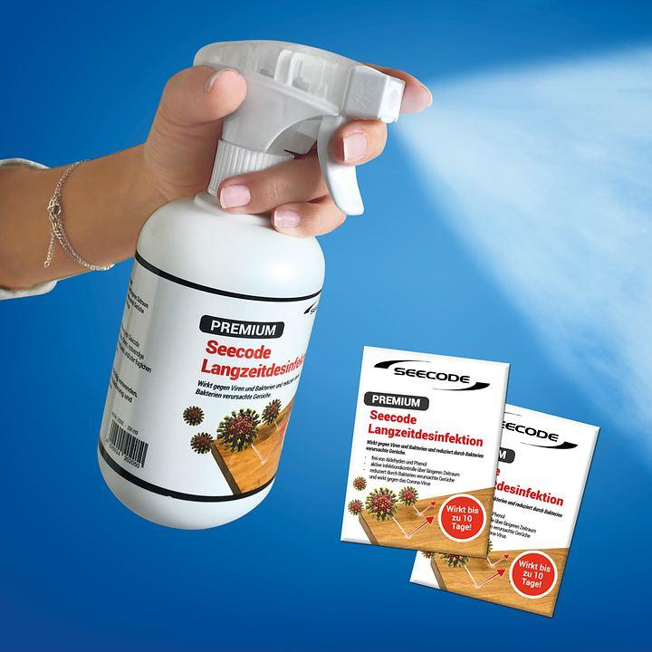 Langzeit-Desinfektionsmittel und Tücher