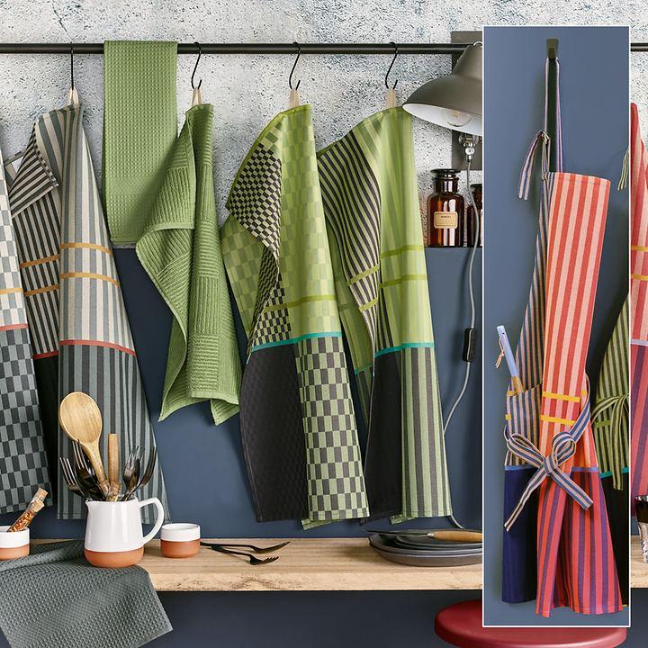 Küchenschürze Tim und Baumwollhandtuch, 2er-Set