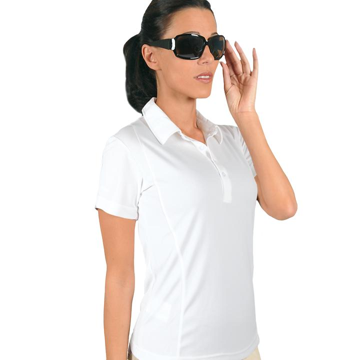 Polo-Shirt Cooldry weiß L Gr. L