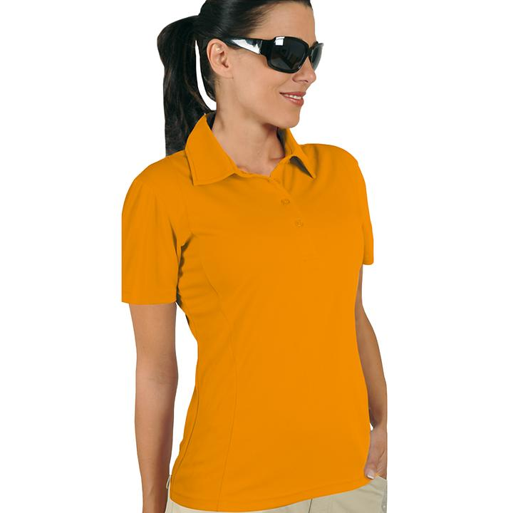 Polo-Shirt Cooldry orange Gr. L