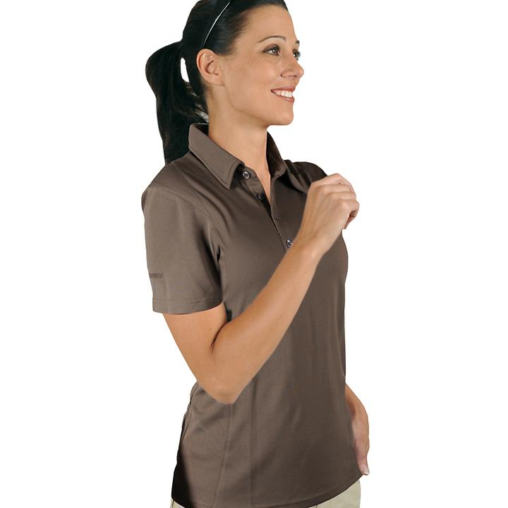 Polo-Shirt Cooldry braun Gr. L