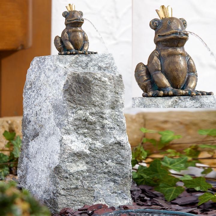 Skulptur Froschkönig Otto & mit Granitstele