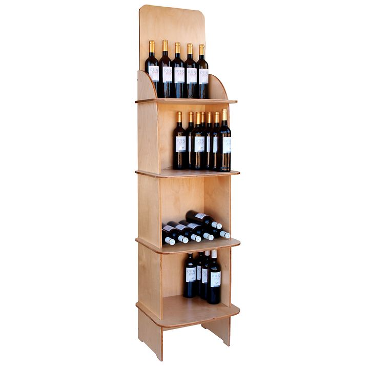 Weinregalsystem CABERNET, Modell 3, Holz natur