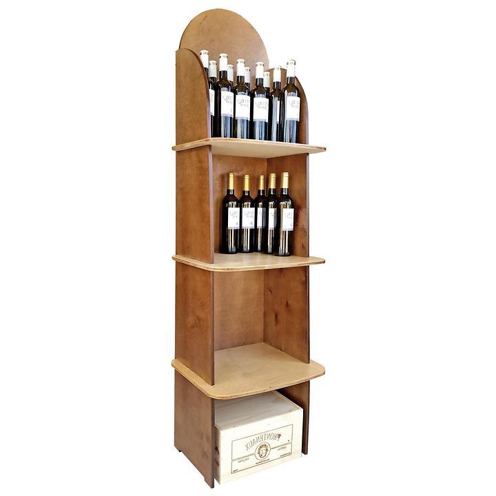 Weinregalsystem CABERNET, Modell 3, natur/braun