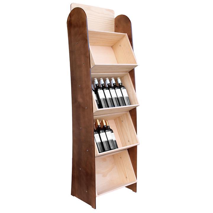 Weinregalsystem CABERNET, Modell 4, Holz natur