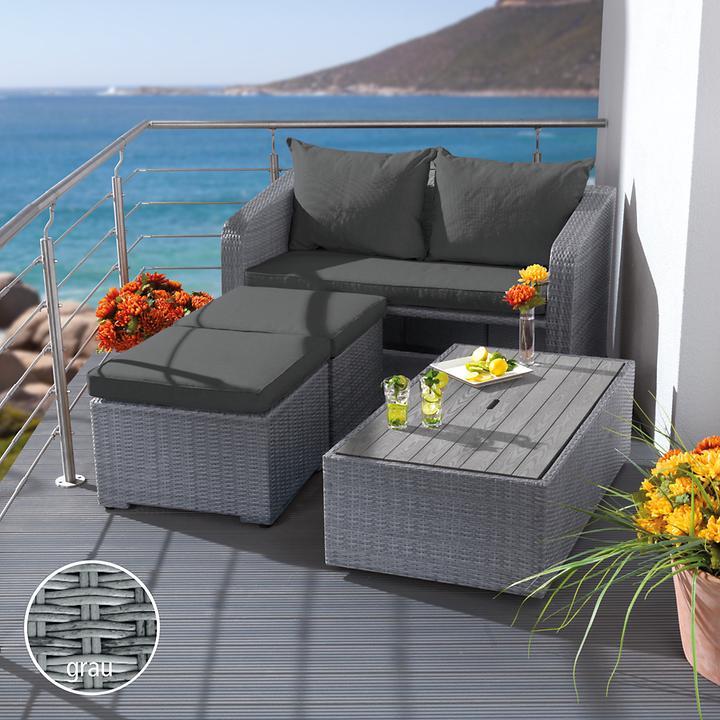 Geflecht Balkon Dining Lounge Platzsparend Promondo