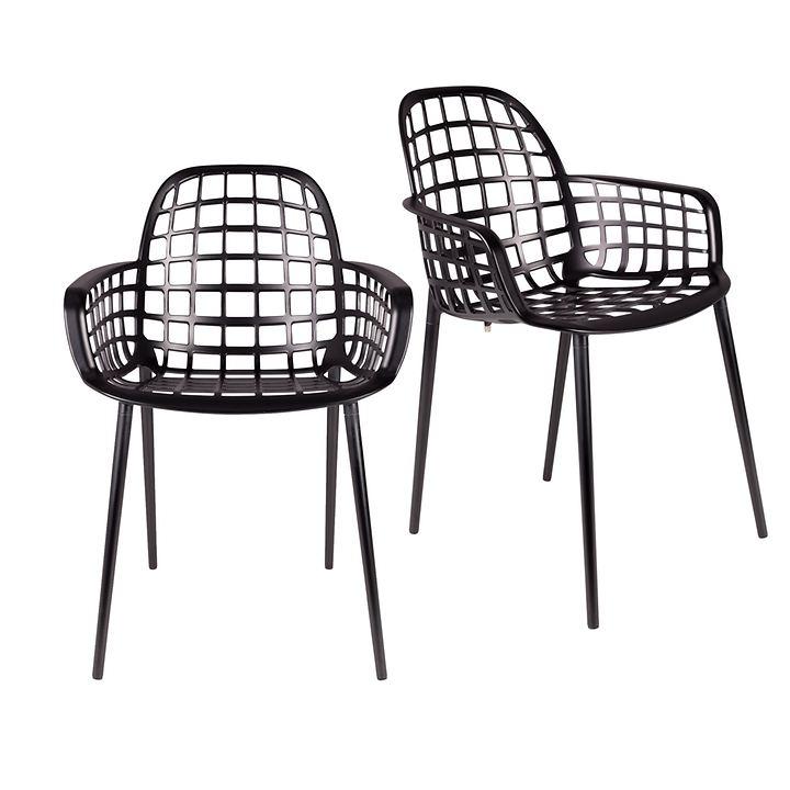Design-Stuhl Albert Kuip 2er-Set schwarz bestehend aus: