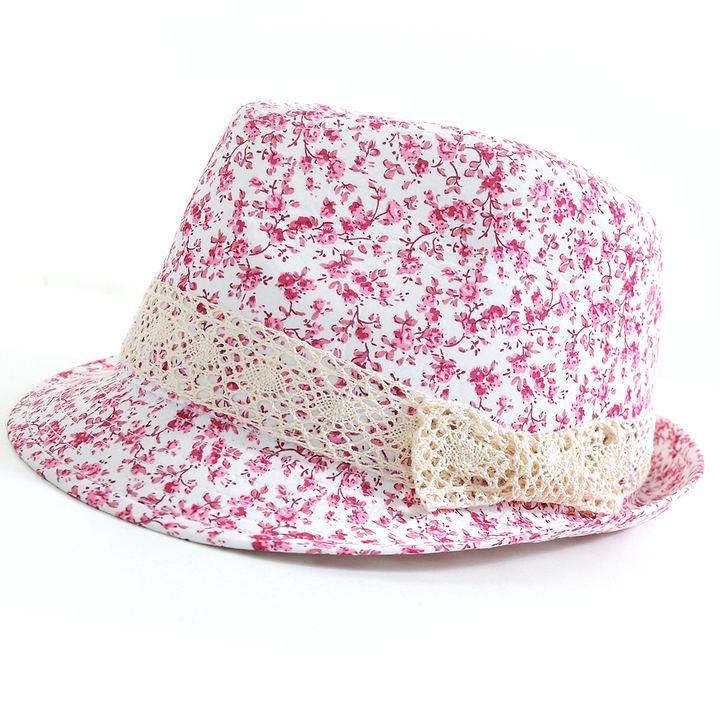 Trilby-Hut Flower, rot | Accessoires > Hüte > Trilbys | Miracele