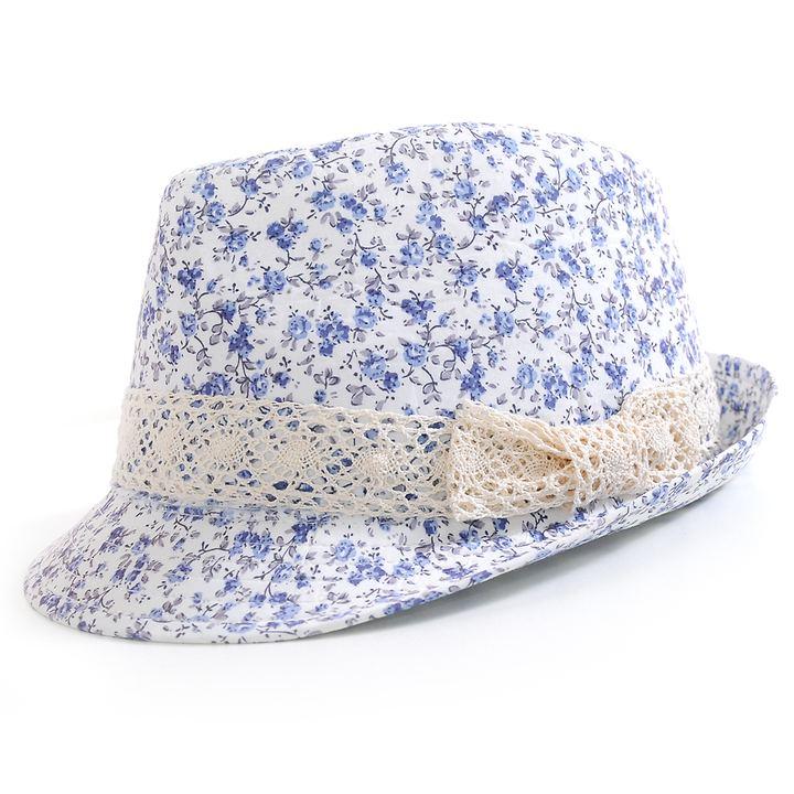Trilby-Hut Flower, blau | Accessoires > Hüte > Trilbys | Miracele