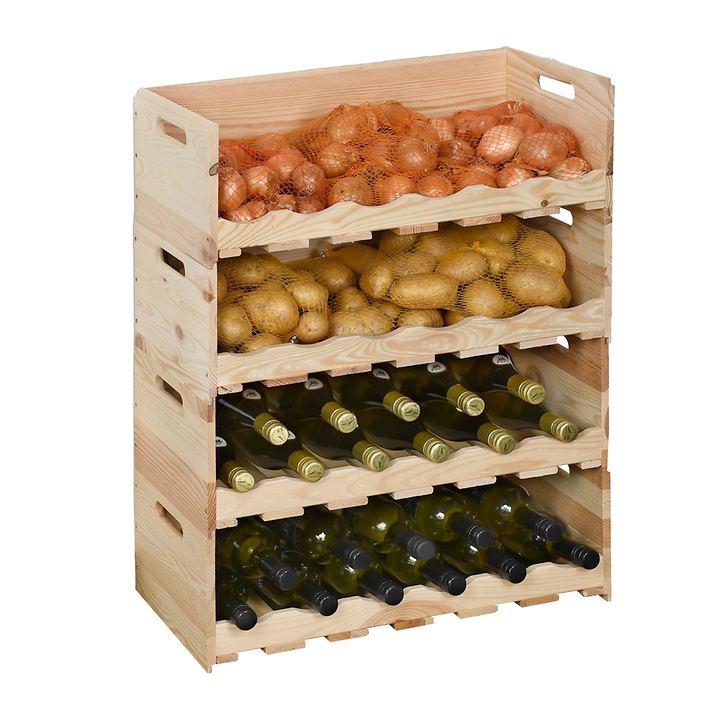 Wein- & Lebensmittelstapelkiste VIVERI