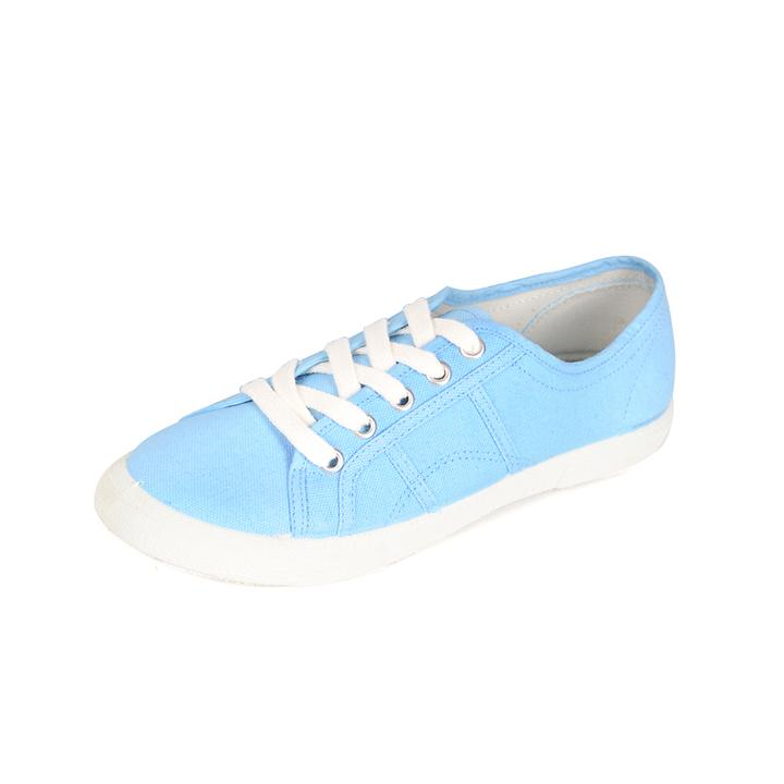 Sneaker Natural Hellblau