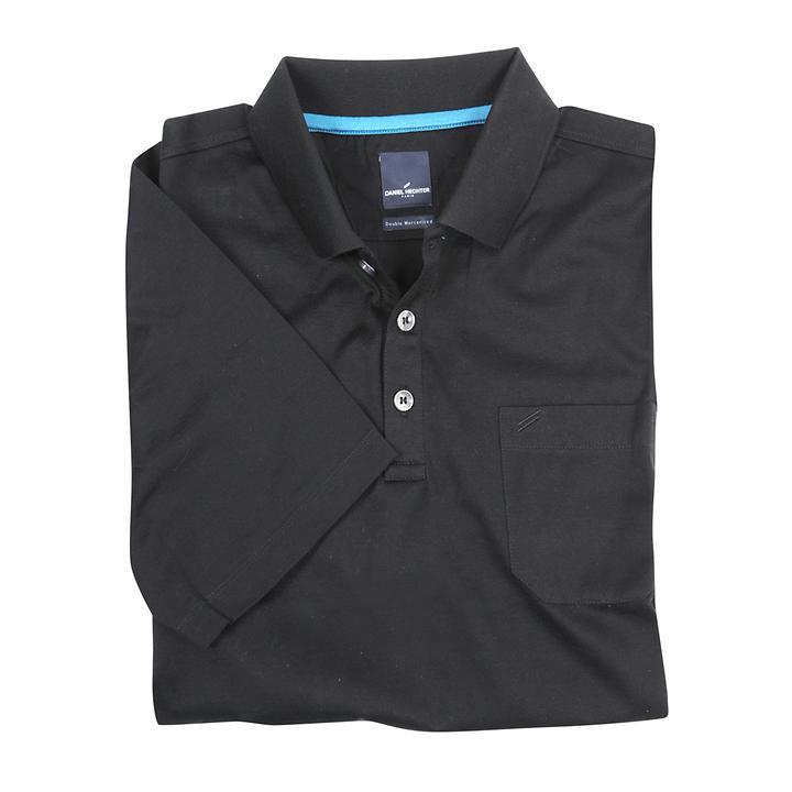 Herren-Poloshirt Cotton, schwarz, Gr. M