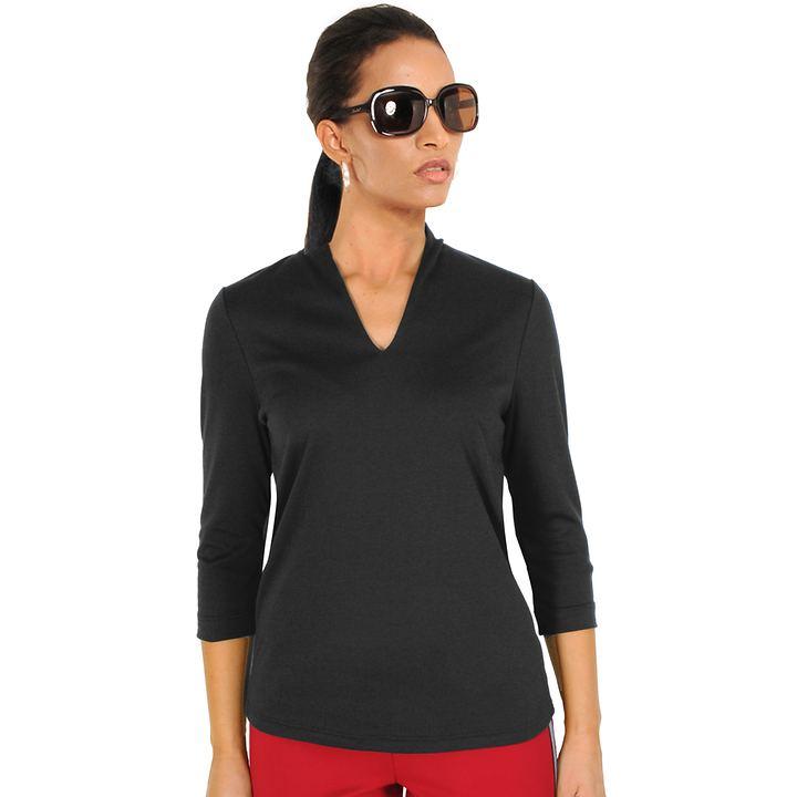 3/4-Arm-Shirt Vita schwarz Gr. 36