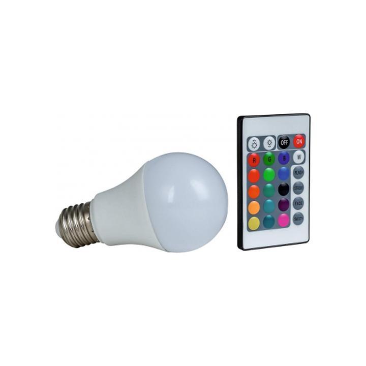LED-Leuchtmittel Farbwechsel inkl. Fernbedienung E 27, 7,5 W