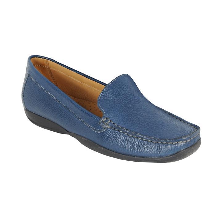 Damen-Moccassin Marcia blau Gr. 42