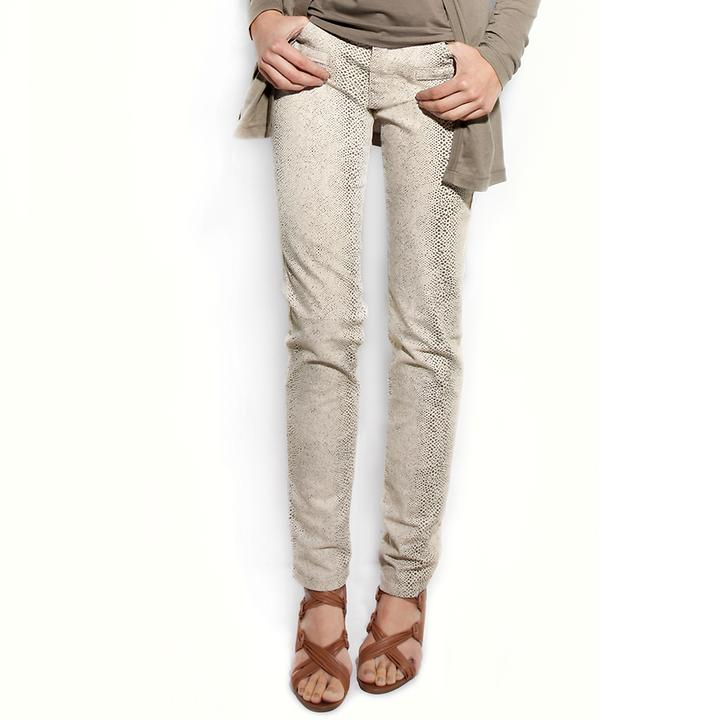 5-Pocket-Stretch-Jeans im animal Print