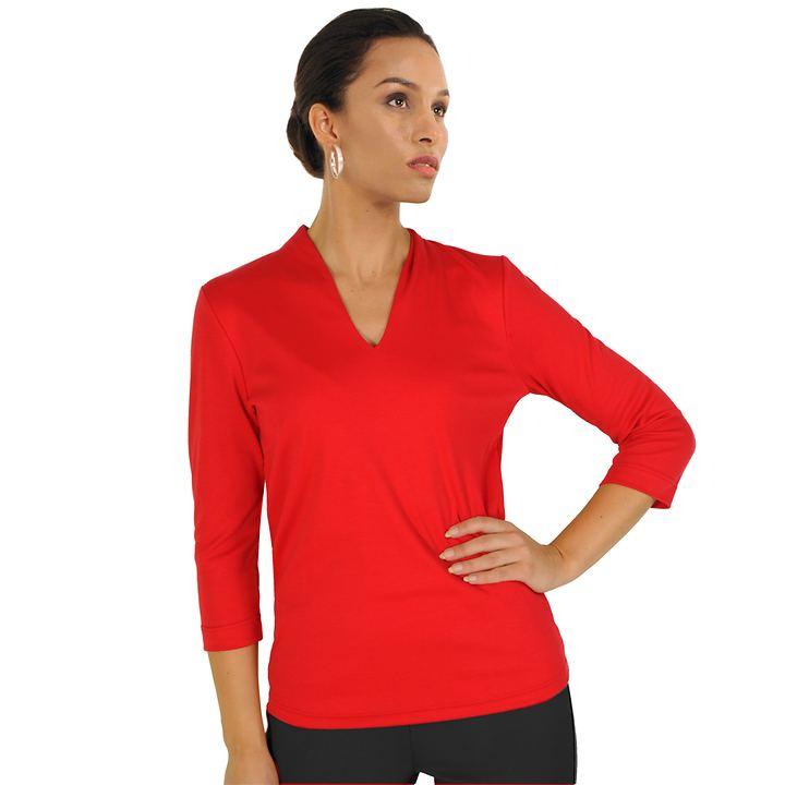 3/4-Arm-Shirt Vita rot Gr. 36